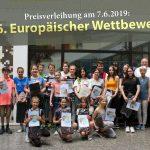 66. Europäischer Wettbewerb 2019- Preisträger des Friedrich-Ebert-Gymnasiums