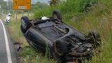 Leimen: L600 – Fahrerin kommt von der Fahrbahn ab und überschlägt sich