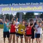 Jugend trainiert für Olympia – Beachvolleyball: 4. Platz für das Fr.-Ebert Gymnasium