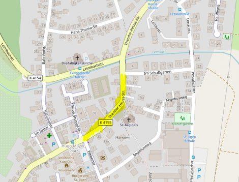 Ausbau der Theodor-Heuss-Strasse beginnt am 26. August