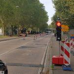 Baustelle zwischen Leimen und St.Ilgen – Halbseitige Sperrung, kurze Ampel-Rotphasen