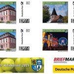 Leimener Weinkerwe 2019 mit eigener Briefmarke - Post bietet Sonderstempel