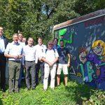 """Graffiti-Kunst: Gauangellocher Evolutionsweg um """"Evolutions-Trafohäuschen"""" erweitert"""
