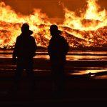 Wiesloch: Großbrand auf AVR-Gelände - </br>Mulch, Kompost und Holz brennen ab