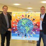 Siegerplakat zum Volkstrauertag von den Klassen 4a/4b der Schillerschule Nußloch