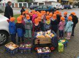 Kürbis, Apfel und Brot – Kinder spendeten Lebensmittel für's AWo-Lädle