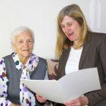 Rosa Weber zum 90.Geburtstag - Bürgermeisterin Claudia Felden gratuliert