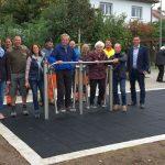 Nußloch: Eröffnung Barfußpfad und Outdoor-Fitnessgeräte im Nepomuk-Park