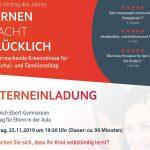 """""""Lernen macht glücklich"""" - </br>Vortrag im Friedrich-Ebert-Gymnasiums"""