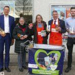 Beim ALDI-Einkauf auch an die Tafel denken - Sammelwagen für Spenden steht bereit