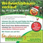 Samstag: Weihnachtsbaum-Verkauf bei Freudensprung in Nußloch