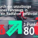 Neuregelungen zum Jahresanfang im Straßenverkehr - Radfahren wird sicherer