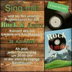 """Sing mit im Projekt 2020 des Liederkranz' Sandhausen: """"Rock & Amore"""""""