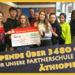 9. Klassen des Fr.-Ebert-Gymnasiums spenden 3.500,- € für German Church School