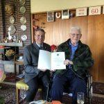 Oberbürgermeister Hans Reinwald gratulierte Hermann Gramlich zum 90. Geburtstag