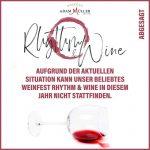 """Beliebtes Weinfest """"Rhythm & Wine"""" des Weingutes Adam Müller abgesagt"""