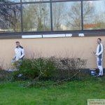 Sportparkhalle ohne Graffiti dank neuem Anstrich