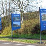 Sandhausen: Sechs neue Ortseingangsschilder bereiten einen herzlichen Empfang