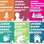 Leimen macht Mut: </br>Bunte Plakate geben Verhaltenstipps