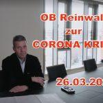 Oberbürgermeister Hans Reinwalds Video-Ansprache an die Leimener Öffentlichkeit
