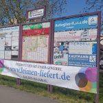 Leimen-liefert: Banner weisen auf Aktion hin - Lokale Wirtschaft unterstützen