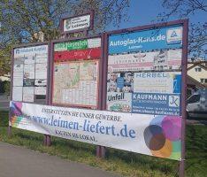 Leimen-liefert: Banner weisen auf Aktion hin – Lokale Wirtschaft unterstützen