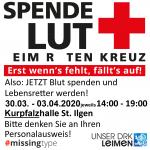 Ab Montag: Regionales Blutspendezentrum in der Kurpfalzhalle St. Ilgen - Bitte Termin reservieren!