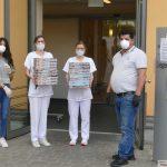 La Vite Leimen - Camelo Bonello dankte St. Josefs-Krankenhaus mit Pizza