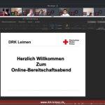Erster Online-Bereitschaftsabend des DRK Leimen