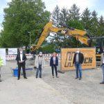 Hardtgruppe - Inbetriebnahme der neuen Hauptwasserleitung in der St. Ilgener Straße