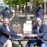 Gastronomischer Neustart gelungen – OB Reinwald kam mit Linzer Torte