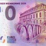 Null-Euro-Schein aus Leimen - Erinnerung an die leider ausgefallene Weinkerwe 2020