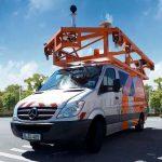 Straßendaten werden erfasst -Mit mobiler Straßentechnik durch die Stadt Leimen