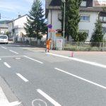 Straßenmarkierungen wurden erneuert
