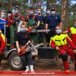 Erfolgreiche Ausbildung an der Motorsäge bei der freiwilligen Feuerwehr Leimen