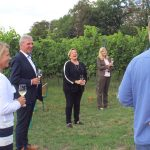 Kultusministerin Dr.Eisenmann in Leimen – Claudia Felden stellt Gartenschaukonzept vor