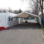 Nach sechs Monaten Betriebszeit: Corona-Drive-In in Schwetzingen abgebaut