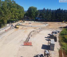 K4155 Sanierung – Neuer Straßenzuschnitt und Kreisel bereits gut erkennbar
