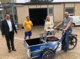 Technische Betriebe Leimen testeten Einsatz von Lastenrad