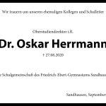 Nachruf zum Tod des ersten Schulleiters am Gymnasium Sandhausen