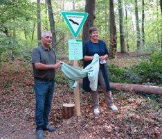 """Neues Entwicklungs-Naturschutzgebiet """"Brühlwegdüne"""" in Sandhausen errichtet"""