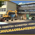 Fr.-Ebert-Gymnasium: Sanierung schreitet voran - Auch digital mit neuer Homepage