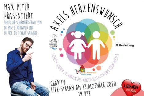 Axels Herzenswunsch – Charity-Stream für das Kinderpalliativteam Rhein-Neckar