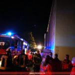 Brandeinsatz in Leimen – DRK Leimen sichert die Einsatzkräfte ab