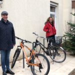Zusätzliche Fahrradständer im Leimener Elisabeth Ding Kindergarten