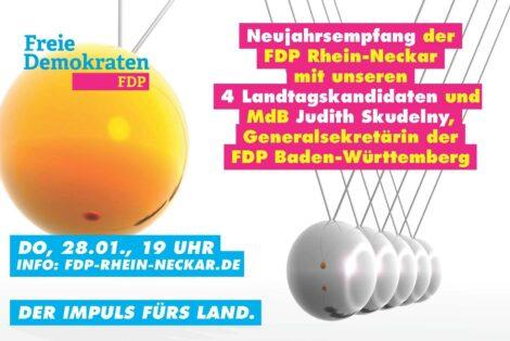 FDP Rhein-Neckar lädt ein zum Online-Neujahrsempfang