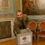 Aktion Leimen-liefert Gewinner-Ziehung - Oberbürgermeister Reinwald war Glücksfee