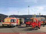 Einsatz des DRK Leimen zusammen mit der Feuerwehr