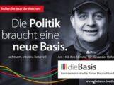 dieBasis: Landtagskandidat Alexander Höfer im Zoom-Meeting bereit zur Diskussion