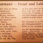 """125 Jahre Liedertafel – Zeitsplitter #6 - Gedicht """"Vorstand -  Freud und Leid"""""""